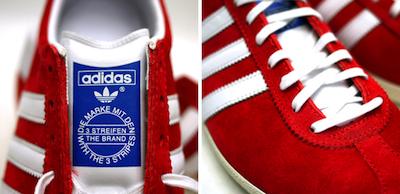 アディダス ガッツレー  og レッド/ホワイト(adidas gazelle)