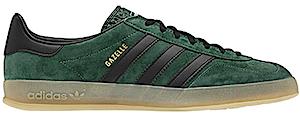 アディダス ガッツレー インドア ダーク グリーン/ガム/ブラック(adidas gazelle indoor dark green/gum/black)