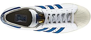 アディダス スーパースター ホワイト/ダークロイヤル/チョーク(adidas superstar White/Dark Royal/Chalk)
