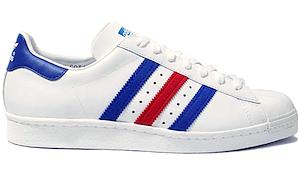 アディダス スーパースター 白青赤(adidas superstar white/blue/red)