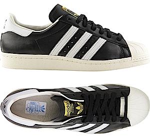 アディダス スーパースター 80's ブラック/ホワイト/チョーク(adidas superstar 80's Black/White/Chalk)