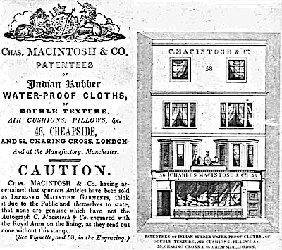 マッキントッシュのショップアド(Chas. MACINTOSH & CO. AD)