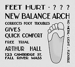 ニューバランス・アーチ 創業当時の広告(New Balance Arch Vintage ad)