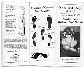 ニューバランス・アーチ ビンテージ・パンフレット(New Balance Arch Vintage Pamphlet)