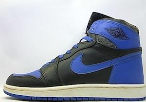 ナイキ エアジョーダン 1 オリジナル 黒青(nike air jordan 1 original black/royal blue)