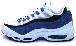 ナイキ エアマックス 95 ホワイト/ブルー/ブラック(Nike Air Max 95 White/