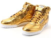 リーボック・エックスオー・フィット・ミッド・メタリックゴールド(REEBOK EX-O-FIT MID CLEAN METALLIC GOLD)