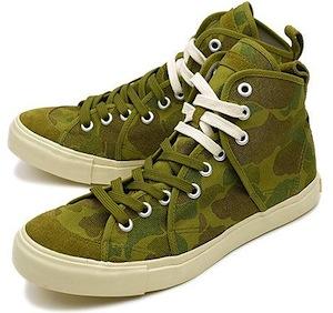 リズム フットウェア サンドウィッチ ハイ カモ グリーン(rhythm footwear sandwich-hi  camo green)