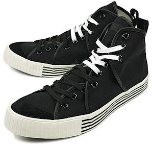 リズム フットウェア サンドウィッチ ハイ キャンバス ブラック(rhythm footwear sandwich-hi  canvas black)