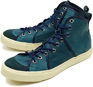 リズム フットウェア サンドウィッチ ハイ レザー ブルー(rhythm footwear sandwich-hi leather blue)