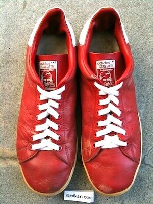 アディダス スタンスミス「赤」(adidas stan smith red)