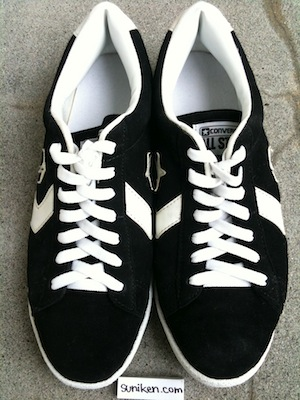 コンバース プロレザー OX スエード 黒(converse pro leather OX black suede)