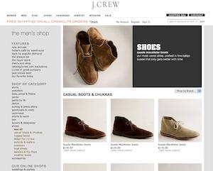 J.クルー(J.Crew)オフィシャルサイト メンズシューズページ