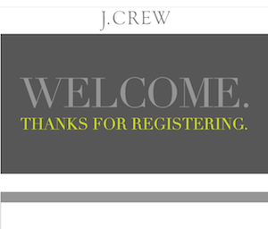 J.crew メール
