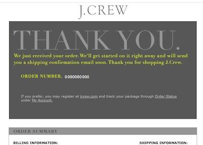 j.crew からのメール