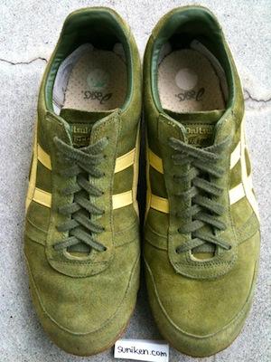 オニツカ タイガー アルティメット(アルティメイト)81 スエード グリーン/イエロー(onitsuka tiger ultimate 81 suede green/yellow)