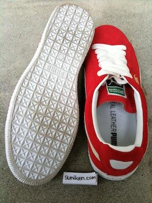 プーマ クライド 赤白(puma clyde red white)