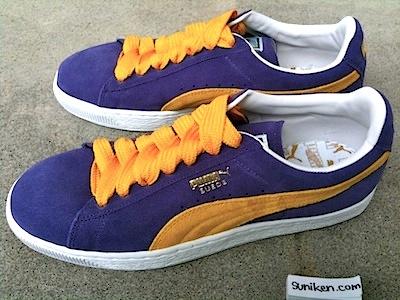 プーマ プーマ スエード クラシック パープル/イエロー(puma suede classic purple/yellow)