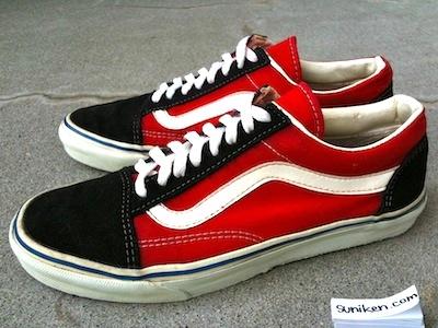 バンズ オールドスクール 赤黒(vans old skool red/black)