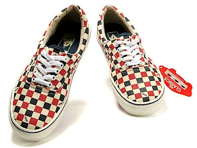 バンズ エラ チェッカーボード ホワイト/ブラック/レッド(Vans Era Checkerboard White/Black/Red)