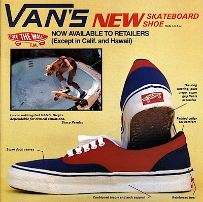 スケートボーダーマガジン(skateboarder magazine vans ad july 1978)