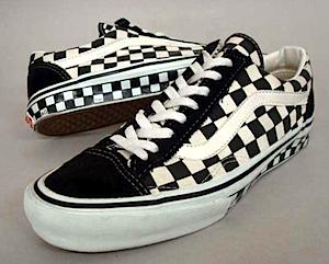 バンズ オールドスクール チェッカーボード サイドテープ(Vans Old Skool Checkerboard Sided tape)