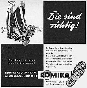 Romika print ad 1950