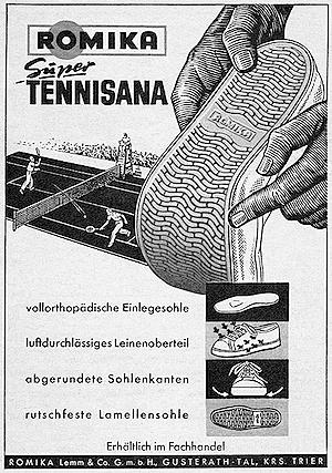Romika print ad 1954