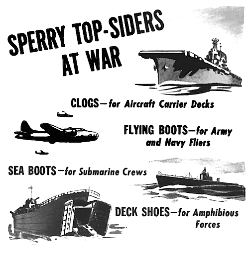 Sperry Top-Siders at War 1944