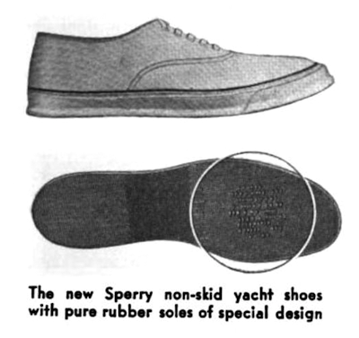 Sperry non-skid yacht shoes Motorboating 1937