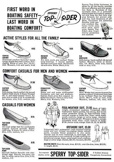 Sperry Top-Sider print ad 1962
