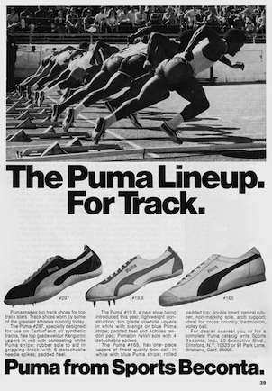 The Puma Lineup. For Track.
