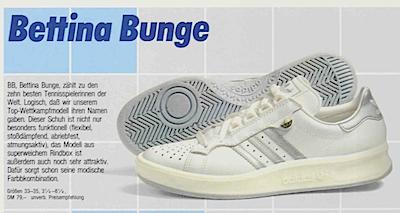 adidas Bettina Bunge 1984