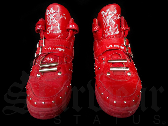 "Michael Jackson Red LA Gear ""Billie Jean"" High Top (1991)"
