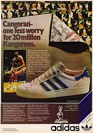 """Cangoran one less worry for 20 million Kangaroos."" アディダス・スーパースター 2(adidas Superstar II) / カンゴーラン(Cangoran)"