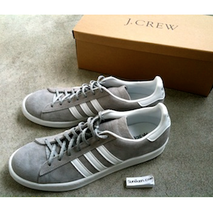 adidas campus gray for J.crew