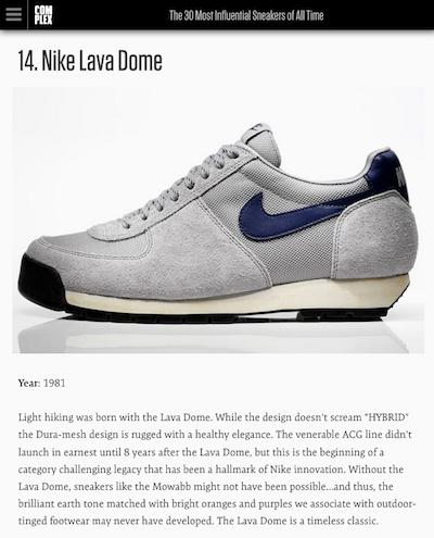 Nike Lava Dome (1981)