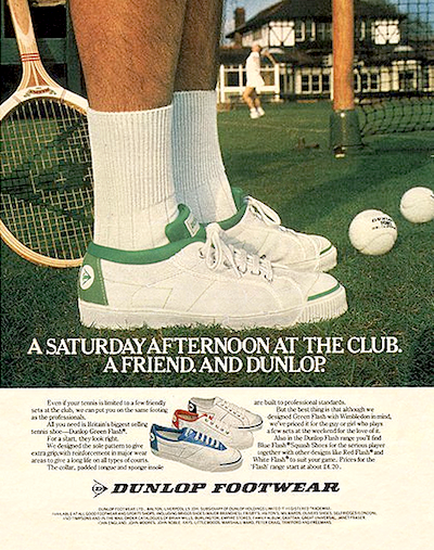 Dunlop Green Flash ad 1970s