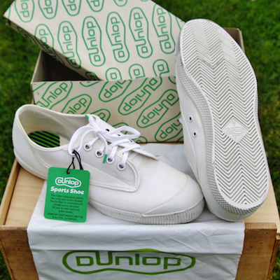 1960s Ladies DUNLOP GREEN FLASH Tennis Trainers