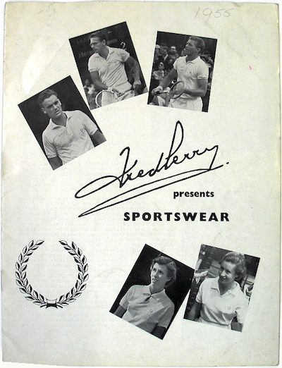 Fred Perry Sportswear Catalogue 1955