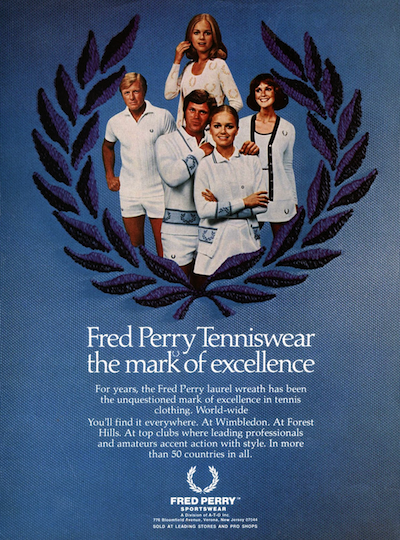 Fred Perry Tenniswear the mark of excellence