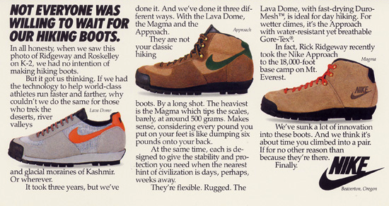 Nike Hiking Boots ad (1981)