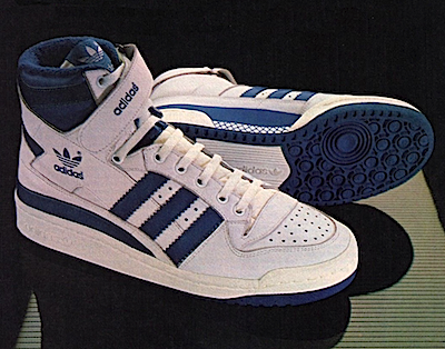 1984 Adidas Forum Basketball Shoe Print Ad