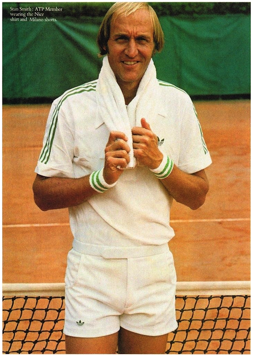 Stan Smith x ATP adidas collection ad (1978)