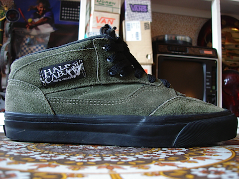 vintage VANS forest green suede style #33 half cab MADE IN USA