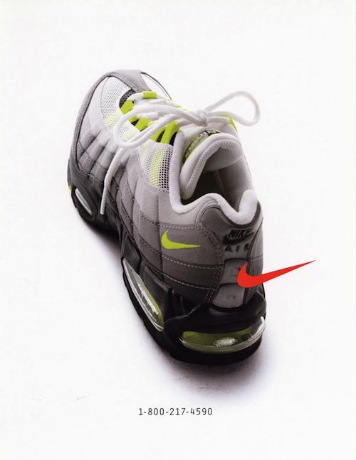 Nike Air Max 95 magazine print ad (1995)