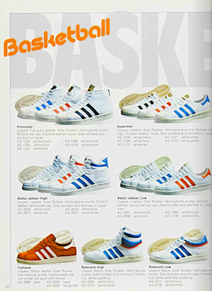adidas campus 1983, catalogue in English
