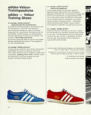 アディダス・ガッツレー・ビンテージ・カタログ 1966-1967(adidas gazelle vintage catalogue 1966-1967)