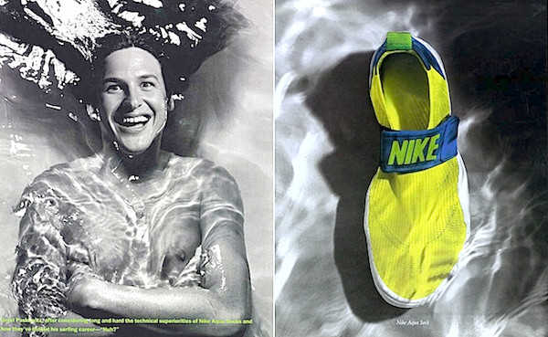 Nike Aqua Socks and Israel Paskowitz 1990