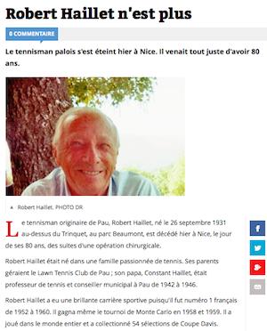Robert Haillet n'est plus